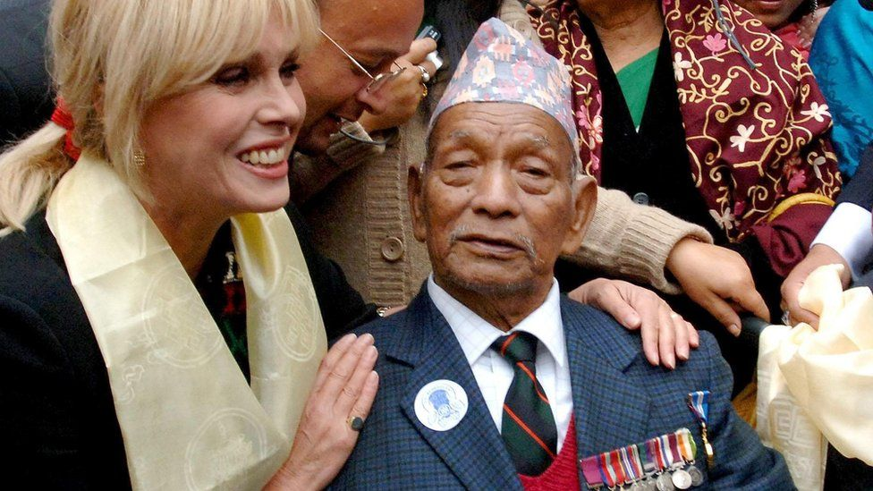 Actress Joanna Lumley credited Tulbahadur Pun for having saved her own soldier father's life in 1944